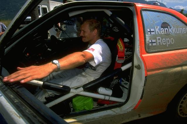 Kankkunen sulla Ford Escort al Rally dell'Acropoli 1997