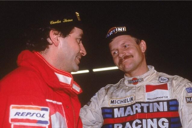 Juha Kankkunen con Carlos Sainz, RAC Rally di Gran Bretagna 1991