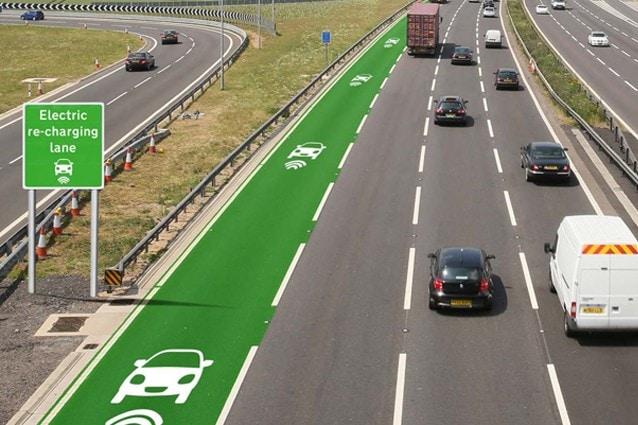 Corsie di ricarica senza fili (Highway England)