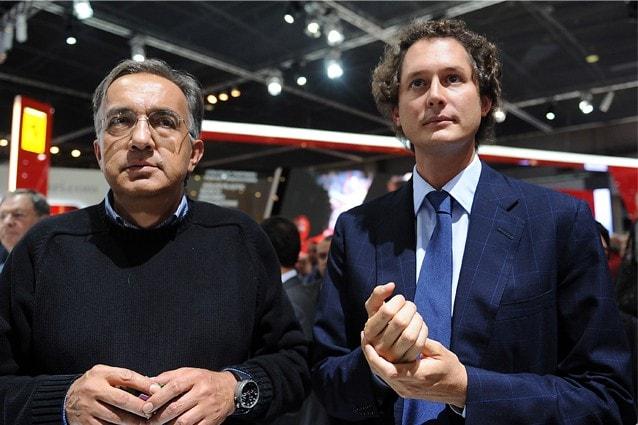Sergio Marchionne, ad di Fca, e John Elkann, presidente di Fca