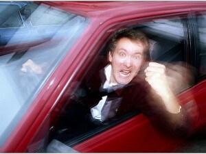 Automobilista arrabbiato (Foto di Joseph Mietus).