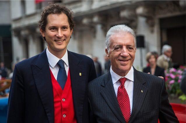Il presidente e ad di Exor, John Elkan, e Piero Ferrari