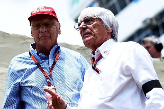 Bernie Ecclestone insieme a Niki Lauda / Getty