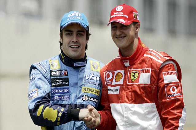 Fernando Alonso e Michael Schumacher – Getty Images