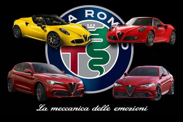 Alfa Romeo 4c, 4c spyder, Stelvio e Giulia
