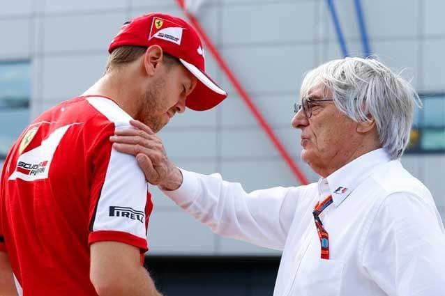 Sebastian Vettel con il patron della Formula 1 Bernie Ecclestone / GettyImages