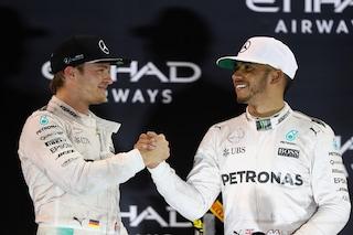 """Rosberg esalta Hamilton: """"Lewis è il pilota più talentuoso della storia insieme a Senna"""""""