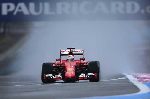 Sebastian Vettel al volante della Ferrari durante i test al Paul Ricard / GettyImages