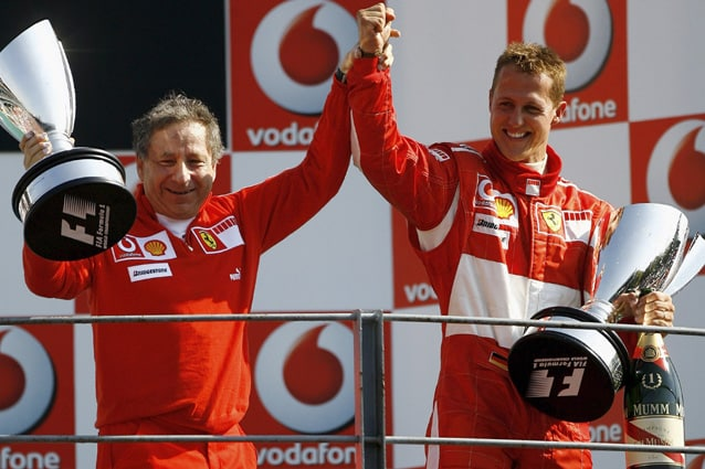 Michael Schumacher e Jean Todt – Getty Images