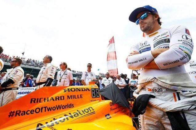 Fernando Alonso alla 500 Miglia di Indianapolis – Foto Twitter