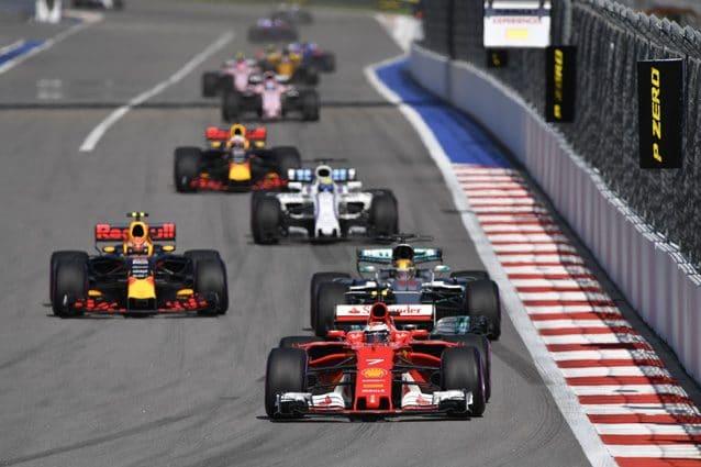 La partenza del Gran Premio di Russia – Getty Images