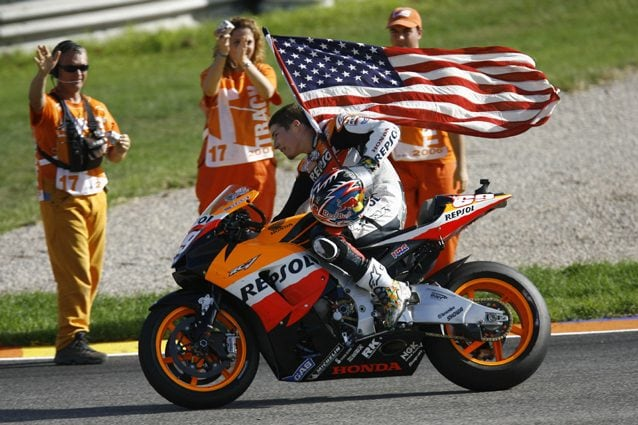 Nicky Hayden dopo aver vinto il mondiale MotoGP 2006 – Getty Images
