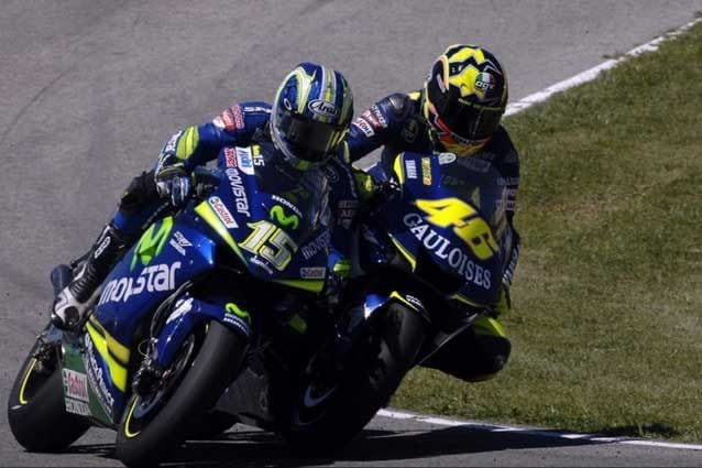 Sete Gibernau e Valentino Rossi spalla a spalla / MotoGP.com