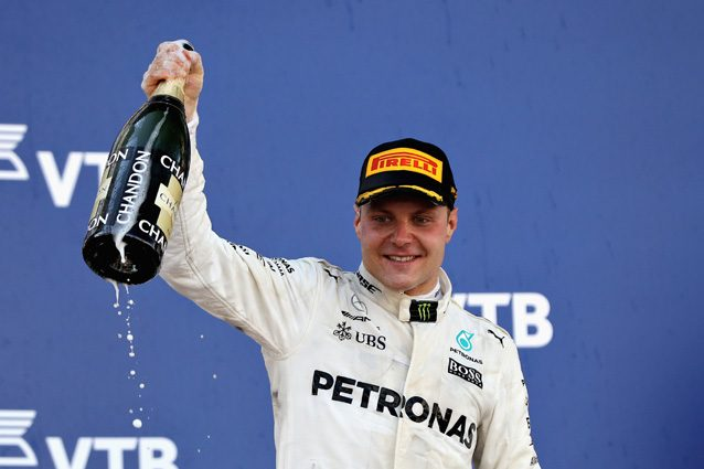 Valtteri Bottas sul podio del Gran Premio di Russia – Getty Images