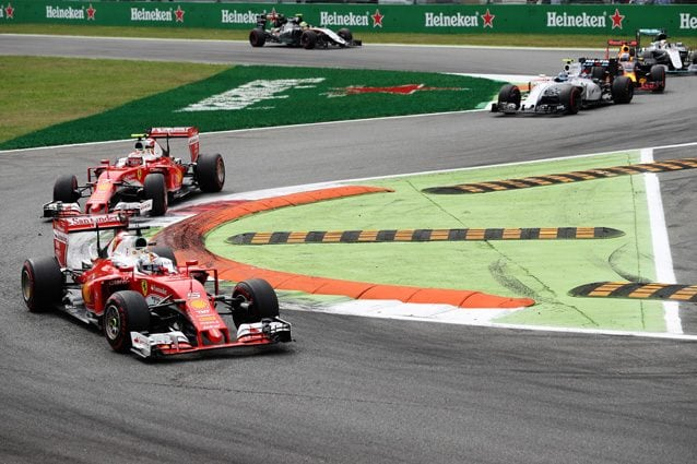 Le due Ferrari nel GP d'Italia – Getty Images