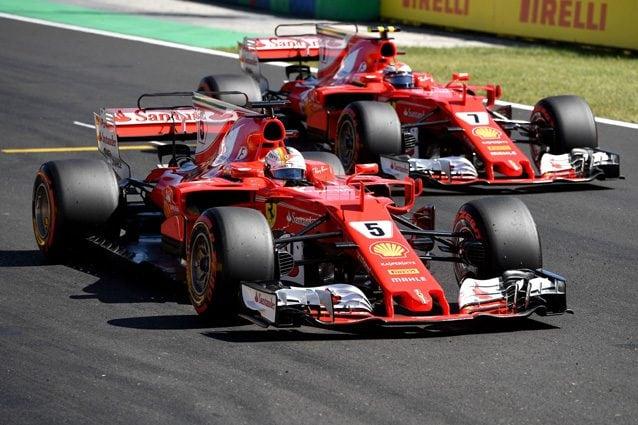 Le due Ferrari di Sebastian Vettel e Kimi Raikkonen – Getty Images