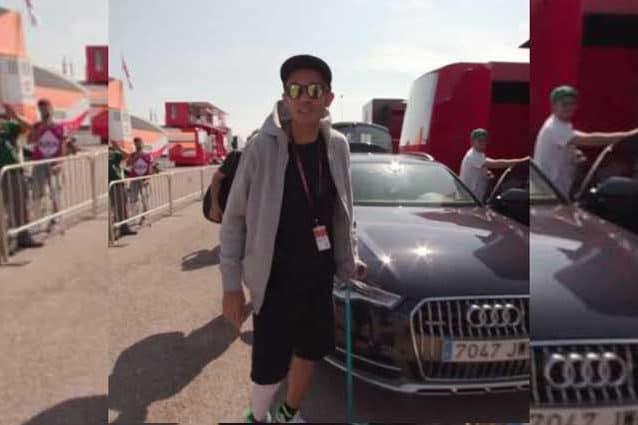 L'arrivo di Valentino Rossi ad Aragon / MotoGp.com