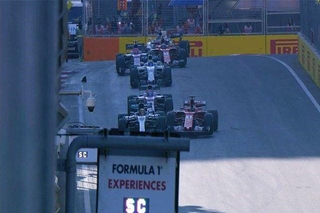La ruotata di Vettel a Baku – Foto Twitter