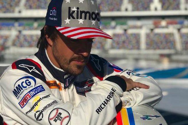 Fernando Alonso a Daytona – Foto Twitter