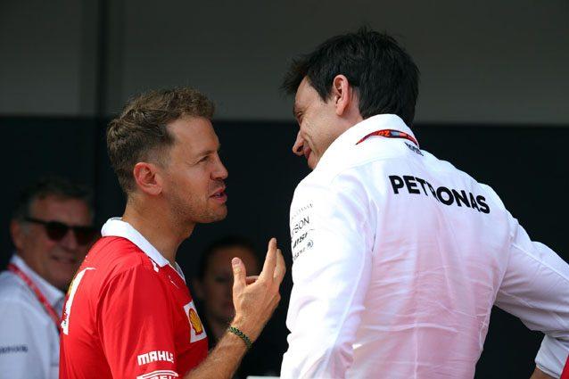 Sebastian Vettel e Toto Wolff – LaPresse