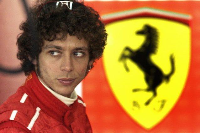 Valentino Rossi ai tempi del test con Ferrari – Getty images