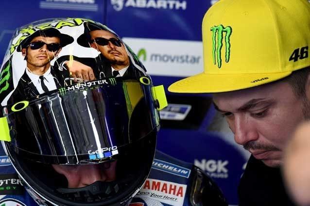 Valentino Rossi e Alessio Salucci a Misano nel 2016 / Getty Images