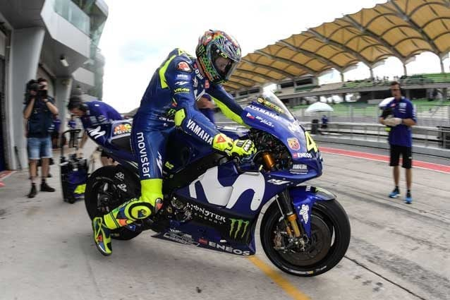 Valentino Rossi nei test di Speang 2018 / Getty Images