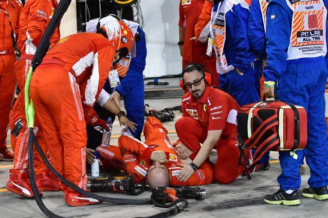L'incidente al meccanico Ferrari durante il Gran Premio del Bahrain – Getty images