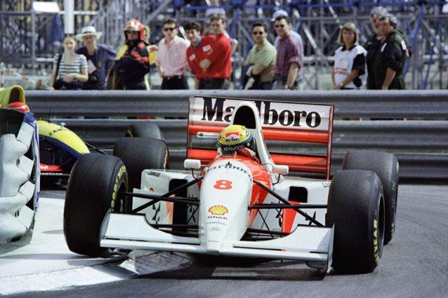 la McLaren di Senna a Monaco – Getty images