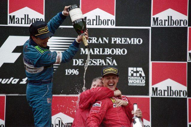 Michael Schumacher festeggia la prima vittoria in Ferrari – Getty images