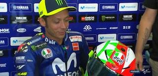 MotoGP, Valentino Rossi al Mugello con il casco speciale sole-luna tricolore