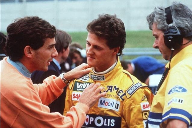 Ayrton Senna e Michael Schumacher – Foto Twitter