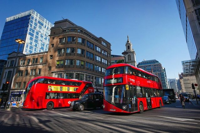 I tipici bus a due piani di Londra