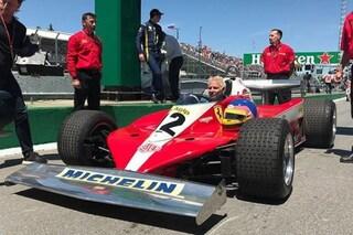 La F1 omaggia Gilles Villeneuve, il figlio Jacques sfila in Canada con la Ferrari 312 T3