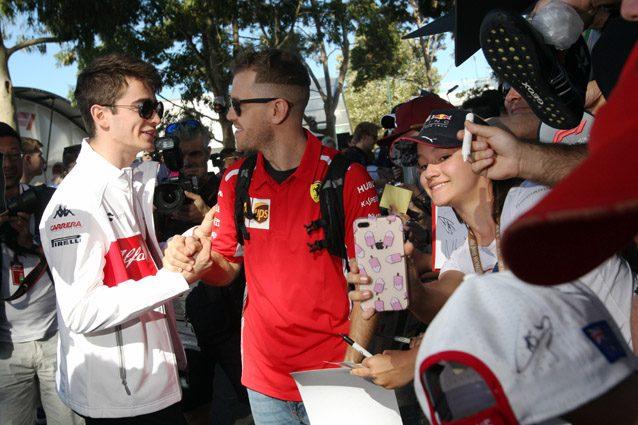 Charles Leclerc e Sebastian Vettel – LaPresse