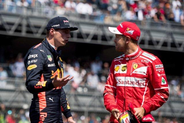 Max Verstappen e Sebastian Vettel – LaPresse