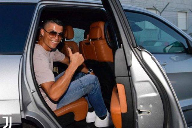 Cristiano Ronaldo con la Jeep Grand Cherokee Trackhawk – Foto @Juventus