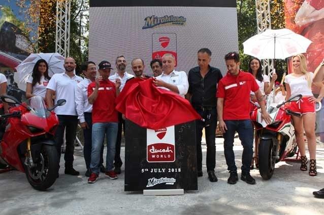 La posa della prima pietra del Ducati World a Mirabilandia / Ducati