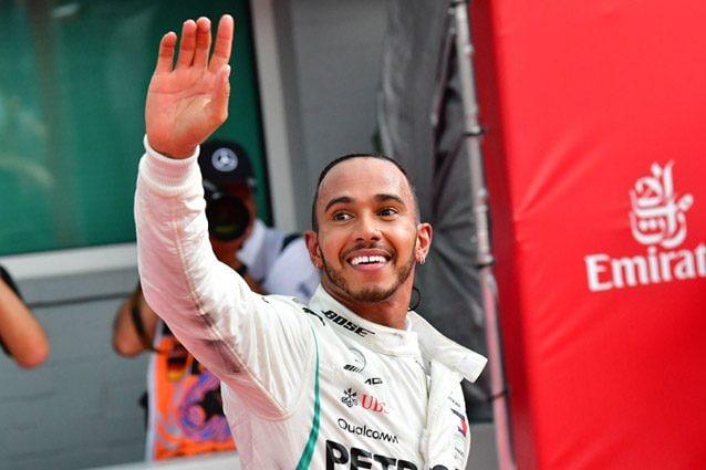 Lewis Hamilton festeggia la vittoria in Germania – Getty images