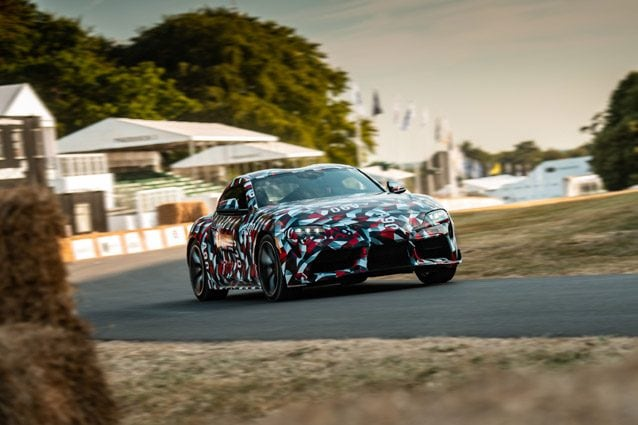 La Toyota Supra a Goodwood
