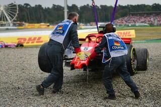GP Germania: Vettel combinaguai, Hamilton re del bagnato