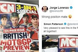 MotoGP, Lorenzo scherza ma non troppo: la copertina con Rossi in pole non piace al maiorchino