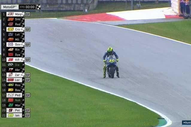 Prove di partenza per Rossi a fine turno / MotoGP.com