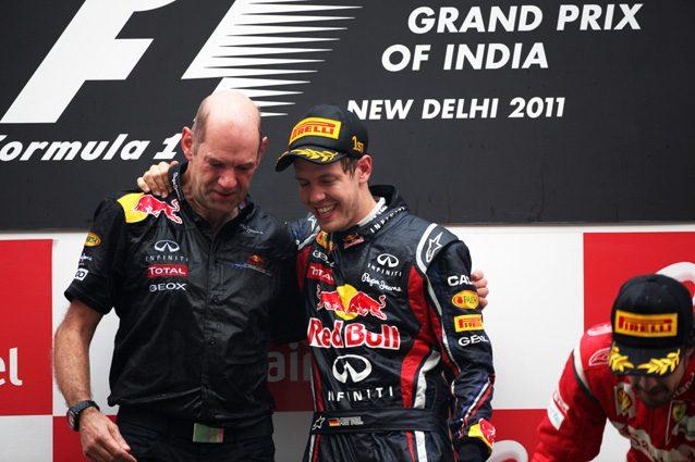 Adrian Newey e Sebastian Vettel ai tempi della Red Bull – LaPresse