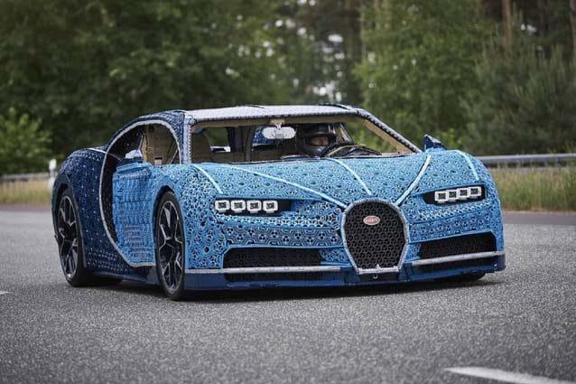 La Bugatti Chiron realizzata dalla Lego