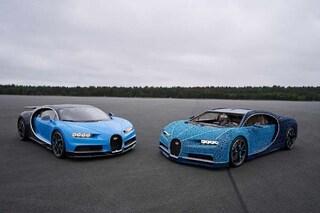 Oltre un milione di mattoncini per la Bugatti Chiron, la supercar Lego che tocca i 30 km/h