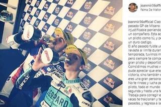 """Moto2, Mir tende la mano a Fenati: """"Non arrenderti, tutti meritano una seconda chance"""""""