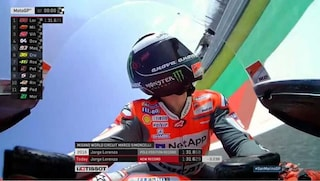 MotoGP, capolavoro Lorenzo: pole record a Misano, 5° Marquez con caduta, 7° Rossi