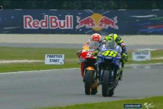 MotoGP Misano, Dovi resta al top, 8° Rossi. Brivido per il sorpasso di Marquez
