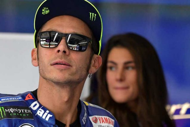 Valentino Rossi al box Yamaha  / Getty Images